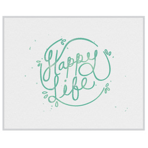 happy life print and frame