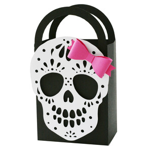 sugar skull gift bag with bow