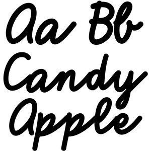 candy apple bold script font
