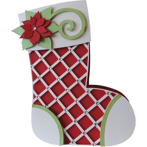 christmas boot shape card