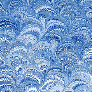 blue marbled pattern