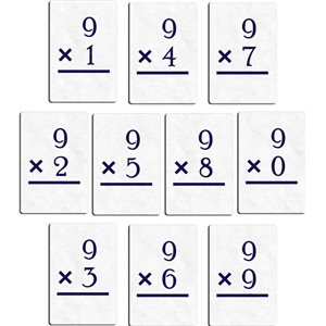 flashcard - multiply 9
