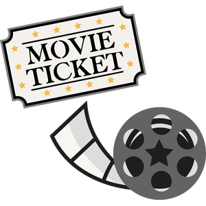 movie ticket and reel