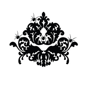 damask with spiders