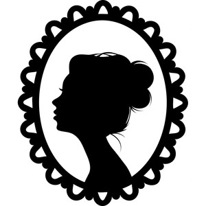 woman profile frame
