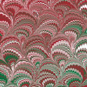 christmas marbled pattern