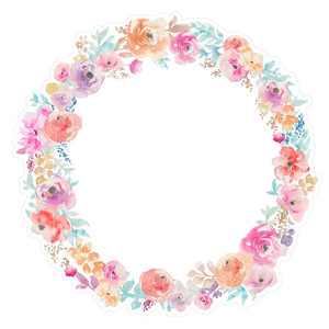 a cute watercolor flower wreath