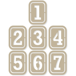 number stencils 3x4 life cards