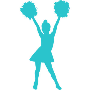 little girl cheerleader silhouette
