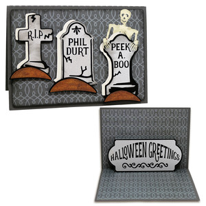a2 pop up grave scene card