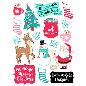 winter wonderland christmas stickers
