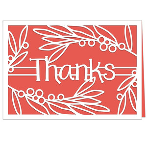 thanks leaves and berries card