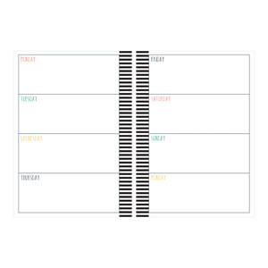 a5 and letter size weekly planner - stripe