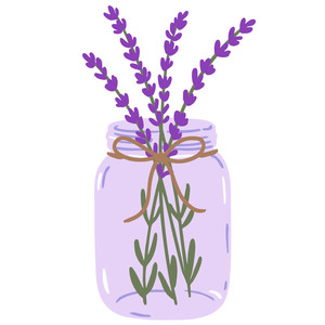 mason jar with lavender