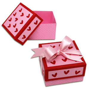 square heart cut outs box
