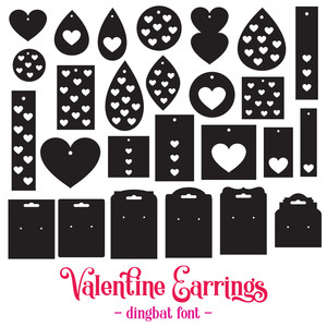valentine earrings font