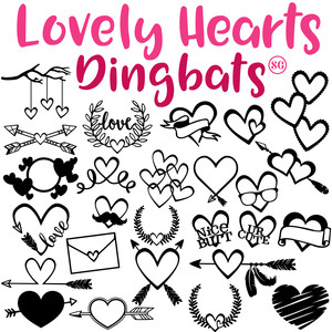 sg lovely hearts dingbats