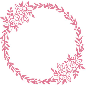 flower and vine wreath