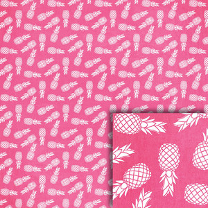 pink pineapples background paper