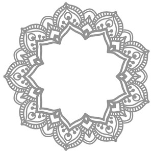 mandala flower monogram
