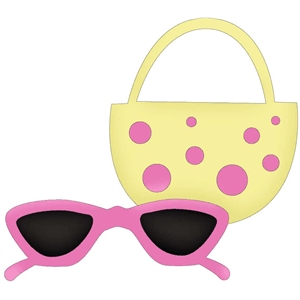 beach purse and sunglasses