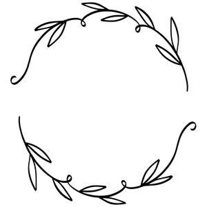 wreath with leaves