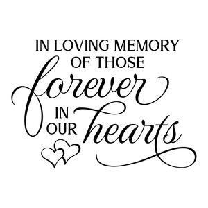 in loving memory of those forever in our hearts