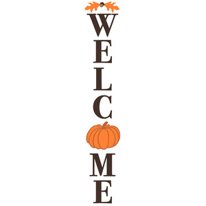 welcome pumpkin porch sign
