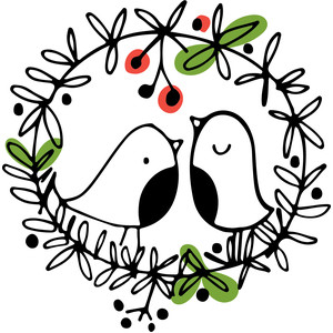 bird wreath - christmas