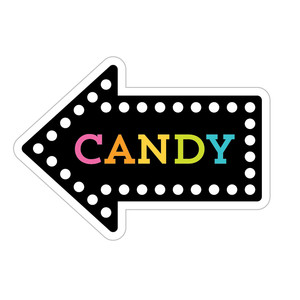 halloween arrow title - candy carnival