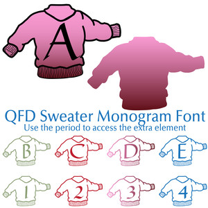 qfd sweater monogram font