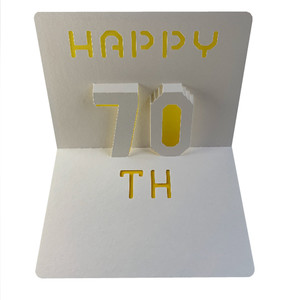 happy 70th popup card