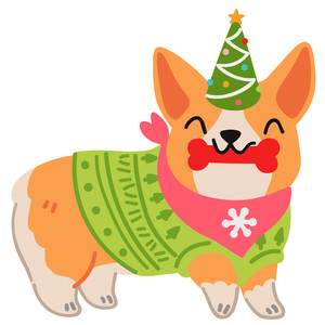 christmas corgi dog