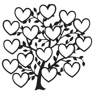 16 heart family tree