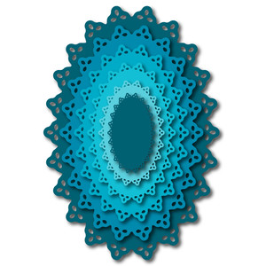 nested oval doily