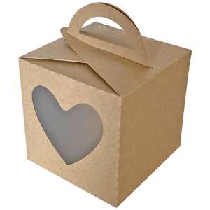 fold over box heart window box with handle