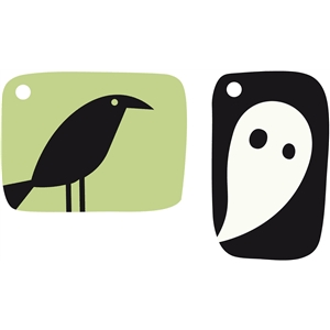 crow & ghost tags