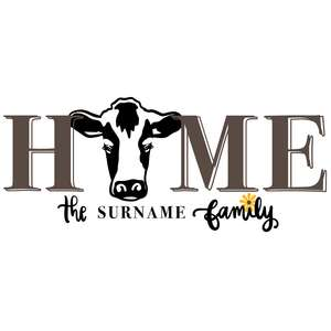 home heifer family sign