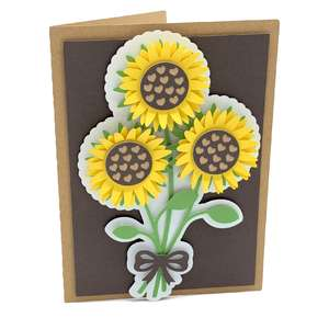 sunflowers heart card