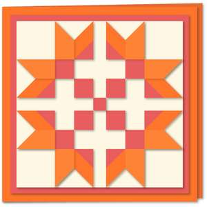 star n nine quilt block card