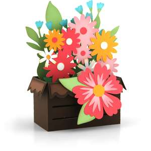 box card crate spring flower