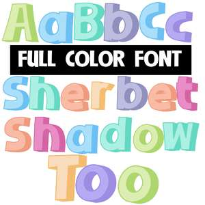 sherbet shadow too color font