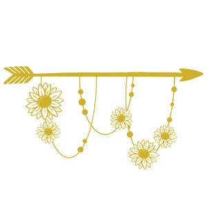 sunflower boho floral arrow