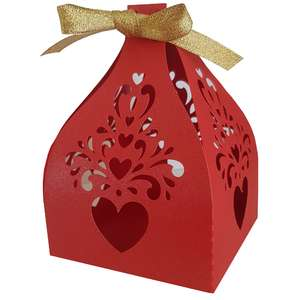 curly hearts favor box