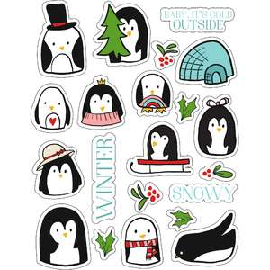 ml penguin winter stickers