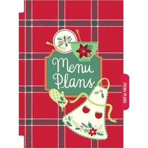holiday cookbook menu plans divider
