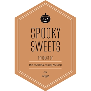 spooky sweets label / tag