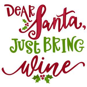 dear santa just bring wine