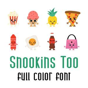 snookins too full color font