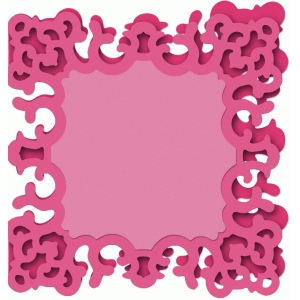 card fancy square frame